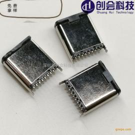 ����科技立式TYPE-C立�N式公�^ USB3.1�N片公座16P直立式SMT �T�嚎�TYPE-C�A板公�^