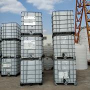 液体储存罐平底1000L二手吨桶 白色