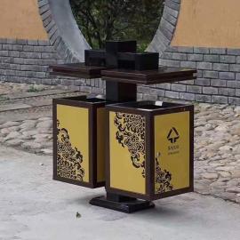 街道景区景观垃圾桶-钢板喷塑果皮箱企业