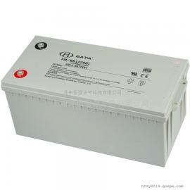 鸿贝BATA免维护蓄电池 12V200AH/20HR测量仪器FM/BB12200T