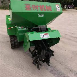 圣时农用小型履带开沟机 开沟撒肥机SSK-35