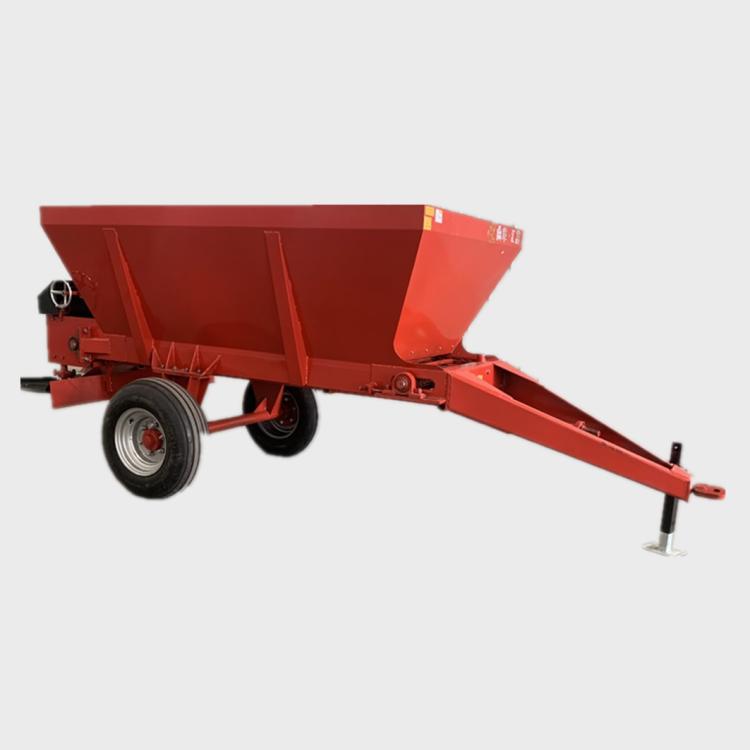 �「� 大块湿粪破碎撒粪车 牵引式肥料抛撒机 大型撒肥�C hf-1.8
