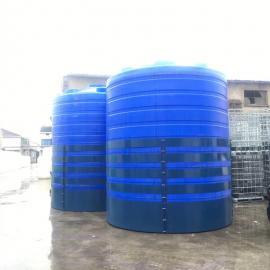 华社30吨滚塑成型化工水箱耐酸碱防腐蚀储罐循环设备配套水塔30T
