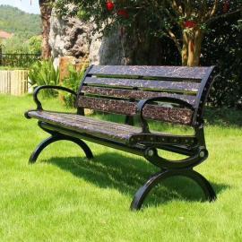 绿华园林公园实木长条椅定制厂商