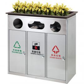 绿华lvhua景区不锈钢垃圾箱定制工厂 公园分类不锈钢垃圾桶生产企业lh-01