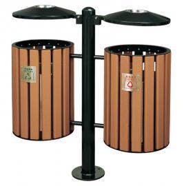 木条垃圾桶制品厂 木条果皮箱 金属果壳箱 钢木垃圾箱