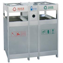 小区垃圾桶不锈钢环卫果皮箱果壳箱生产家