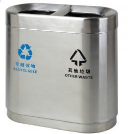 环卫不锈钢垃圾箱生产厂 物业不锈钢两分类垃圾桶定制企业