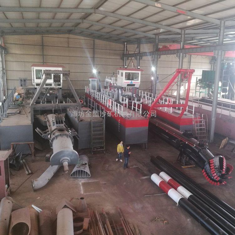 金盟 尾矿库清淤船工厂定制 小型绞吸式清淤船现货 6寸