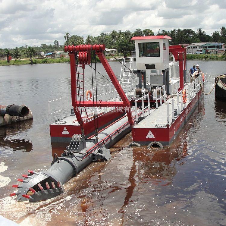 金盟出口大型绞吸式抽沙船参数河道抽沙设备8寸