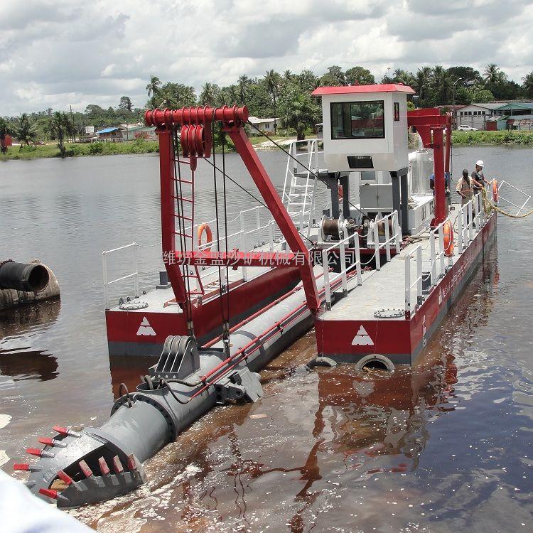 金盟 河道远距离输送的抽沙船用什配置 14寸
