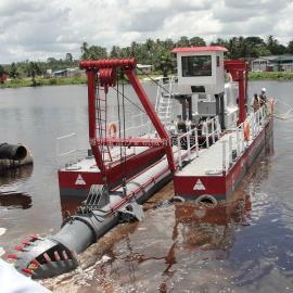 金盟 �g吸式挖泥船出口�|南�� �g吸船�m用范�� 12