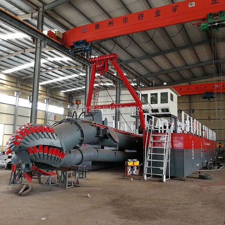 金盟十二寸绞吸式抽沙船发动机功率12