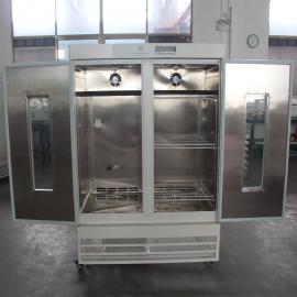 珠江牌 不锈钢内胆植物栽培霉菌培养箱 双开门大型紫外杀菌试验箱 LRH-800A-M