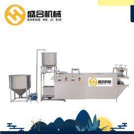 小型商用豆腐皮机 盛隆自动磨千张机械设备