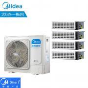 美的家用中央空调变频多联机 空调5HP风管机一拖二三四美的空调 MDVH-V120W/N1-615