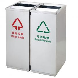 绿华lvhua不锈钢摇盖垃圾桶生产 户外不锈钢垃圾箱 广场大厅不锈钢果皮箱lh-01