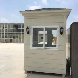 夹芯板保安岗亭铝塑板收费岗亭PVC挂板安保岗亭