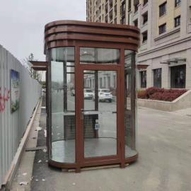 不锈钢岗亭PVC挂板保安岗亭钢结构值班收费岗亭