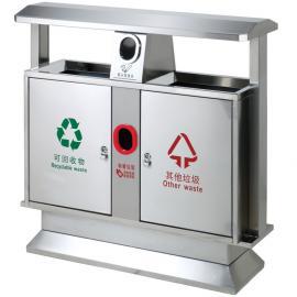 润州垃圾分类收集桶-润州街道小区金属材质垃圾桶