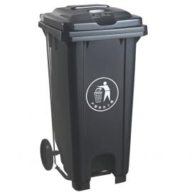 扬中240L升塑料分类垃圾桶-脚踩塑料垃圾桶定制企业