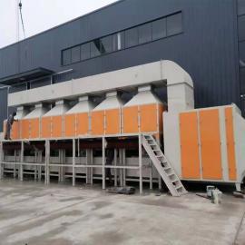 清大环�;�械有限公司型台地区催化燃烧装置火热安装中QD-10000