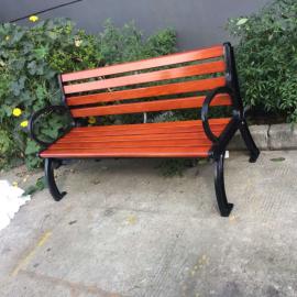 公共场所带靠背公园椅户外实木休闲椅定制厂商