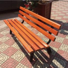 公共场所带靠背公园椅户外实木休闲椅定制企业