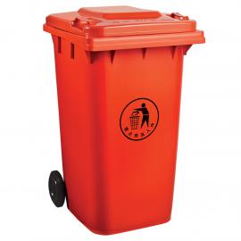 240L升塑料果皮箱-市政分类脚踩塑料垃圾桶生产厂商