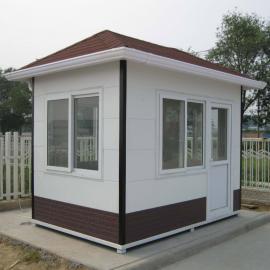 PVC挂板岗亭-钢结构金属雕花板保安岗亭