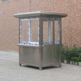 不锈钢值班收费岗亭成品句容小区门卫站岗岗亭