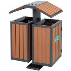 户外钢制分�垃圾桶 金属�h�l果皮箱生产厂商