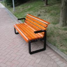 户外塑木休闲座椅 公园长椅定制厂商