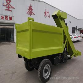 圣泰大马力粪便清理车 自走式清粪车 工作视频QF-2