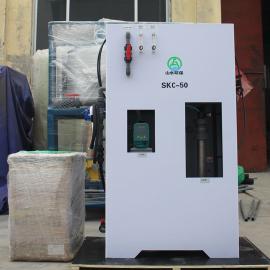 山水�h保次氯酸�c�l生器�解工��f明 全自�右惑w化次氯酸�c投加器系�ySKCL-50