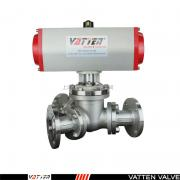 法登阀门-气力输送粉料三通Y型球阀,颗粒介质专用气动阀VATTENVT2YDF33A