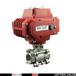 VATTEN 电动SS2205高压螺纹球阀 内丝双相钢阀门 VT2CDN33A