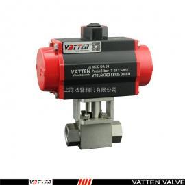 VATTEN 气动高压螺纹球阀 两通不锈钢阀门 VT2JDN33A