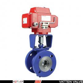 德国VATTEN电动V型法兰切断型球阀,DB50阀门配置执行器VT2IEF33A