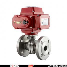 电动开关型不锈钢法兰球阀,就地远程控制型电动执行器接线图VT2BDF33AE德国VATTEN