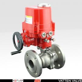 VATTENQ型CT5防爆电动执行器 电动法兰不锈钢O型球阀VT2BDF33AE
