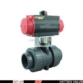 法登阀门-污水废水弱酸弱碱介质排放气动PVC由令塑料球阀 VT2CDU73G VATTEN