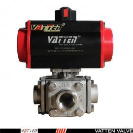 VATTEN 气动不锈钢四通球阀 VT2XDN33A