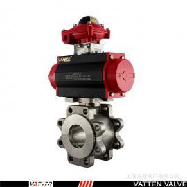 VATTEN 气动不锈钢薄型对夹球阀 VT1HDW33A