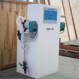 山上环保 二氧化氯投加器消毒装置安装调试视频 二氧化氯发生器工作原理图 50-500g/H