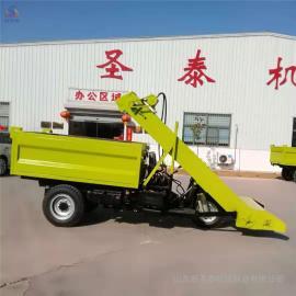 圣泰自走式清粪车使用视频 刮板式铲粪车性能 QF-2