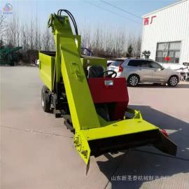 圣泰全自动清粪车图片 牛场用粪便清理车 使用视频 QF-2