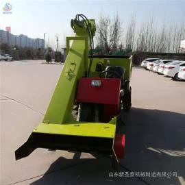 圣泰牛场小型清粪车构造 全自动羊场铲粪车 使用方法QF-2