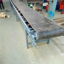 六九重工可升降平板式箱货输送机 65厘米宽电动升降皮带运输机Lj8
