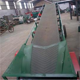 六九重工袋装大蒜传送用8米长皮带输送机 装卸车人形带皮带机Lj8dy800